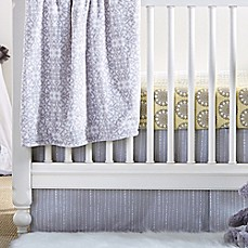 image of Wendy Bellissimo™ Mix & Match Dotted Stripe Crib Skirt in Grey