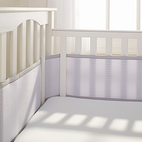 Breathable Baby® Deluxe Breathable Mesh Crib Liner in Grey