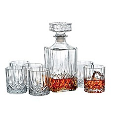 image of Denmark 7-Piece Whiskey Decanter Set