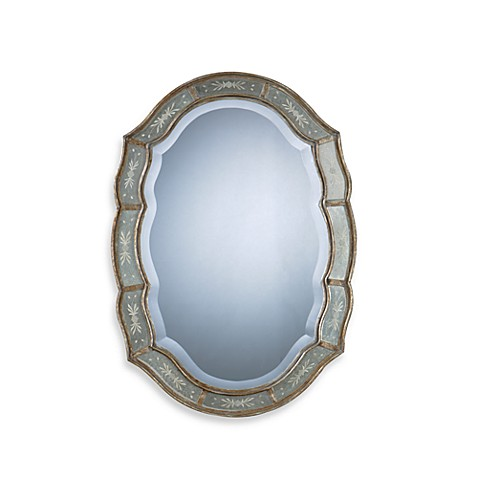 mirror in the bathroom fifi uttermost fifi wall mirror bed bath amp beyond 23772