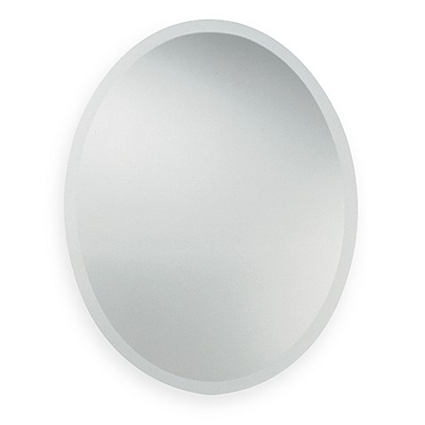 Uttermost oval decorative wall mirror bed bath beyond for Fancy oval mirror