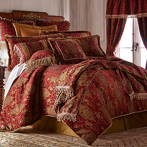 Buy Sherry Kline China Art Queen Comforter Set In Red From