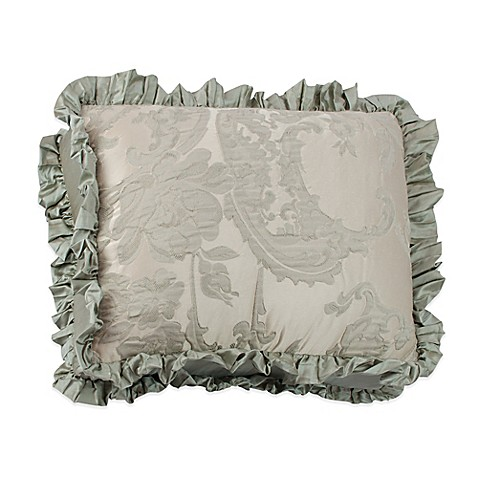 Throw Pillows Ruffle : Buy Austin Horn Collection Cascata Jacquard Ruffle Oblong Throw Pillow from Bed Bath & Beyond