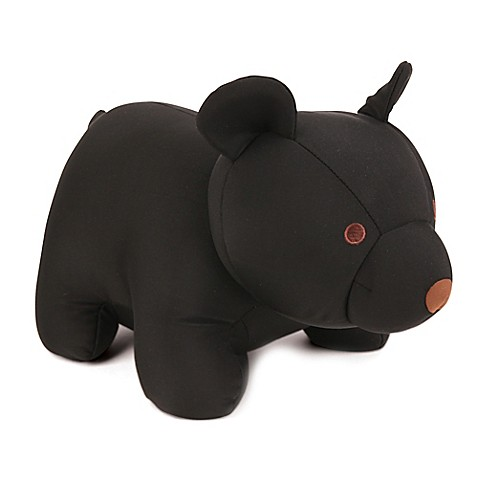 Kikkerland 174 Zip Amp Flip Black Bear Travel Pillow Bed Bath