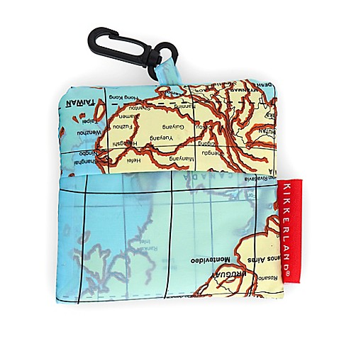 Kikkerland design world map travel laundry bag in blue bed bath kikkerlandreg design world map travel laundry bag gumiabroncs Choice Image