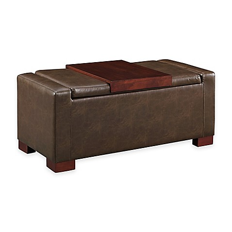 image of Davis Lift Top Storage Ottoman - Storage Benches, Ottomans & Cubes, Pouf - Bed Bath & Beyond