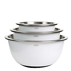image of OXO Good Grips® 3-Piece Stainless Steel Mixing Bowl Set