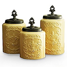 image of American Atelier 3-Piece Antique Canister Set