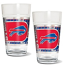 image of NFL Buffalo Bills Metallic Pint Glass (Set of 2)