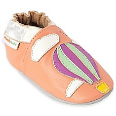 image of MomoBaby Away We Go Leather Soft Sole Shoe in Peach