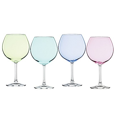 Marquis by waterford vintage ombre aromatic wine glasses set of 4 bed bath beyond - Waterford colored wine glasses ...