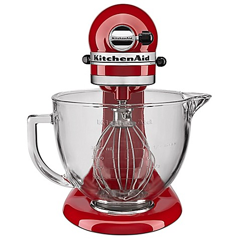 Kitchenaid 5 qt stand mixer with glass bowl bed bath beyond - Kitchenaid glass bowl attachment ...