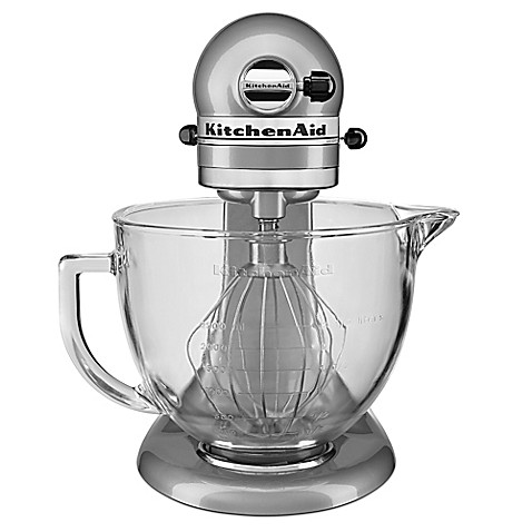 Buy kitchenaid 5 qt stand mixer with glass bowl from bed bath beyond - Kitchenaid glass bowl attachment ...