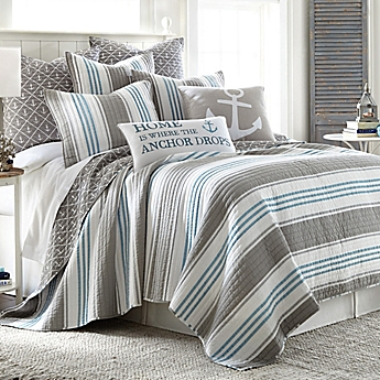 Image Of Provincetown Reversible Quilt In Grey ...