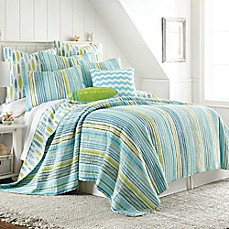 image of Beach Break Reversible Quilt in Blue