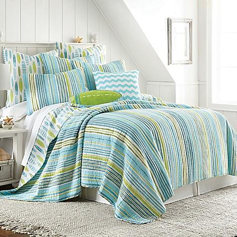 Beach Break Reversible Quilt In Blue Bed Bath Amp Beyond
