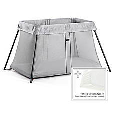 image of BABYBJORN® Travel Crib Light Bundle in Silver