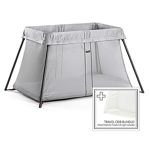 babybjorn travel crib light bundle in silver bed bath beyond. Black Bedroom Furniture Sets. Home Design Ideas