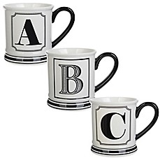 image of formations block letter monogram mug