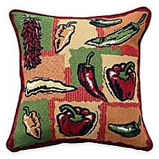 image of Park B. Smith® Hot Peppers Tapestry Square Throw Pillow