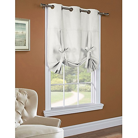 Buy Commonwealth Home Fashions 63 Inch Room Darkening Grommet Top Tie Up Window Curtain Panel In