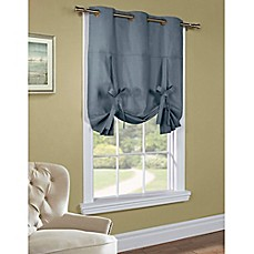 image of 63-Inch Room-Darkening Grommet Top Tie-Up Window Curtain Panel