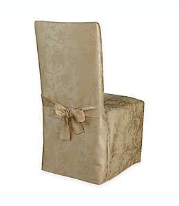 Funda para silla Christmas Ribbons™, en dorado