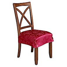 image of Christmas Ribbons Seat Covers Dining Room Chair  Slipcovers Bed Bath Beyond