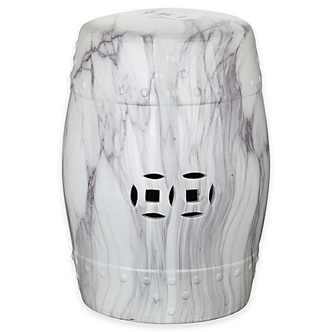 Buy Safavieh Jade Swirl 18 Inch Garden Stool In White From
