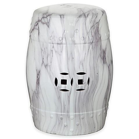 Buy Safavieh Jade Swirl 18 Inch Garden Stool In White From