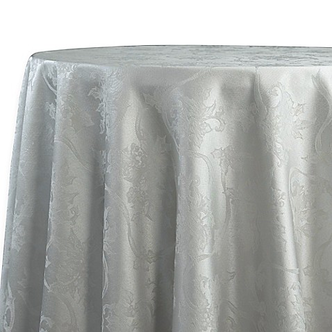 Buy Christmas Ribbons 90 Inch Round Tablecloth In Platinum