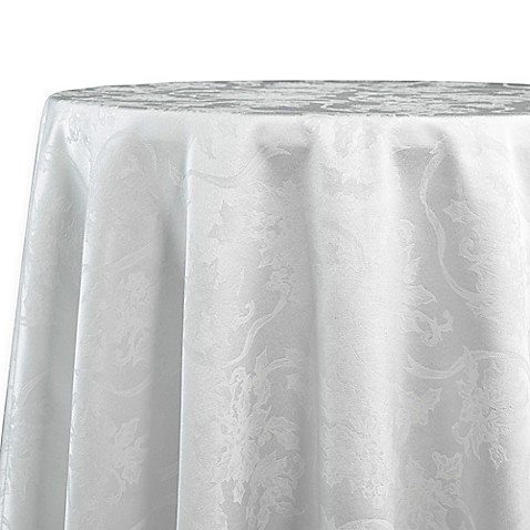 Buy Christmas Ribbons 70 Inch Round Tablecloth In White