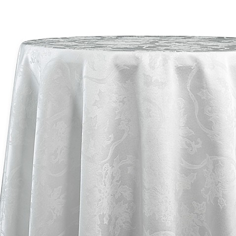 Buy Christmas Ribbons 90 Inch Round Tablecloth In White