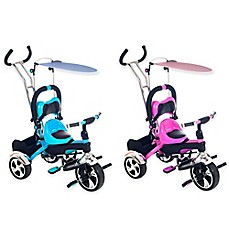 image of Lil' Rider 2-in-1 Stroller Tricycle Child-Safe Trike Trainer