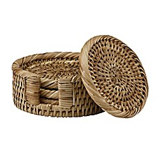 image of The French Chefs™ 5-Piece Rattan Coaster Set