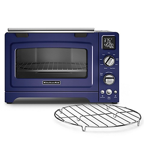inch convection digital countertop oven in blue the kitchenaid 12 inch ...