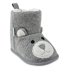 image of Capelli New York Bear Knit Slipper in Grey