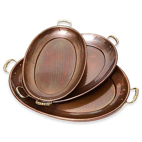 Old dutch international d cor antique copper 3 piece oval for International decor