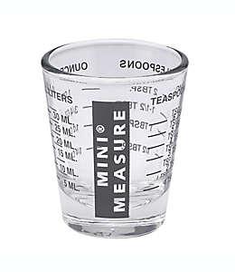 Mini taza medidora de vidrio