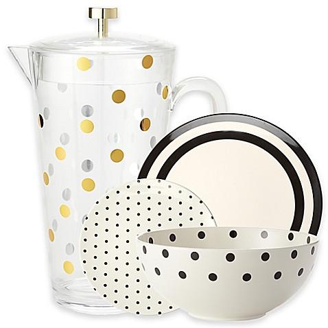 Image Of Kate Spade New York Raise A Glass Melamine Dinnerware And Acrylic  Drinkware