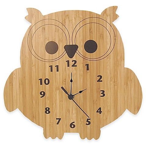 Trend Lab 174 Northwoods Owl Wall Clock Buybuy Baby