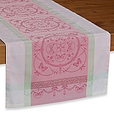 image of Garnier-Thiebaut Eugenie Candy 21-Inch x 59-Inch Table Runner