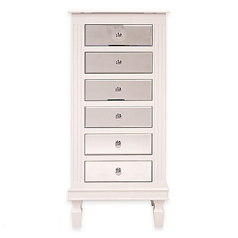 Ava Jewelry Armoire In White Bed Bath Amp Beyond