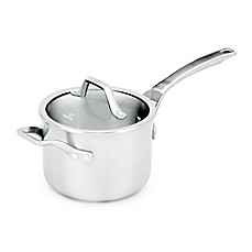 image of Calphalon® Signature™ Stainless Steel Covered Saucepan