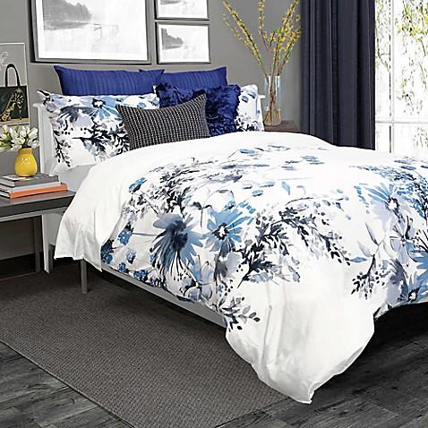 Kyra Duvet Cover Set In Blue White