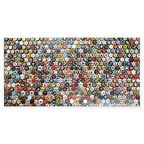 Bottle Cap Wall Art hop art lacquer bottle cap canvas wall art - bed bath & beyond