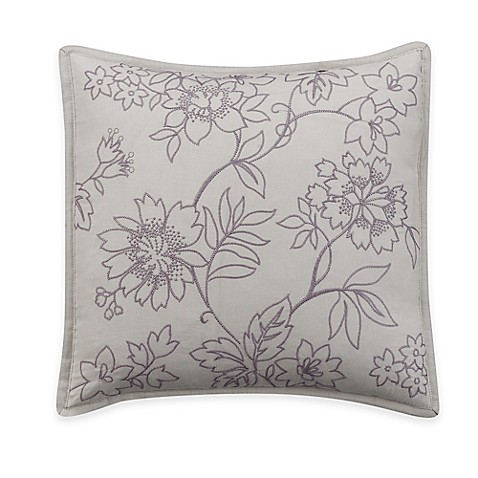 Helena Square Throw Pillow in Purple - Bed Bath & Beyond