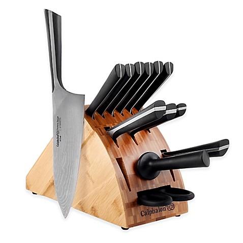 Katana Kitchen Knife | Calphalon Katana Series 14 Piece Cutlery Knife Block Set Bed