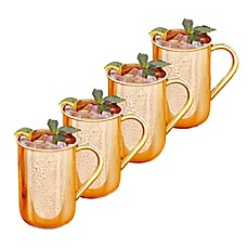image of Old Dutch International Solid Copper Moscow Mule Mugs (Set of 4)