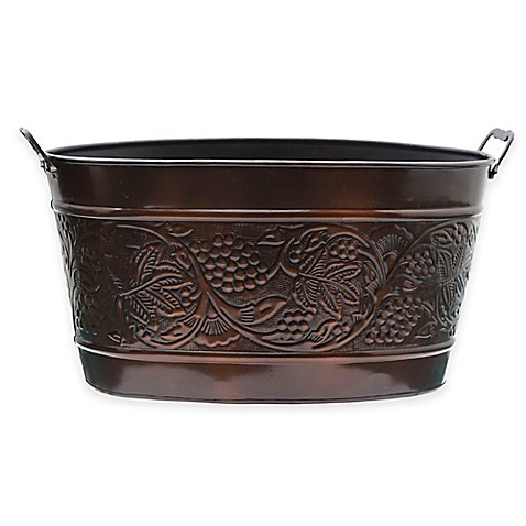 Old Dutch International Antique-Copper-Plated Heritage Beverage Tub in Antique-Copper